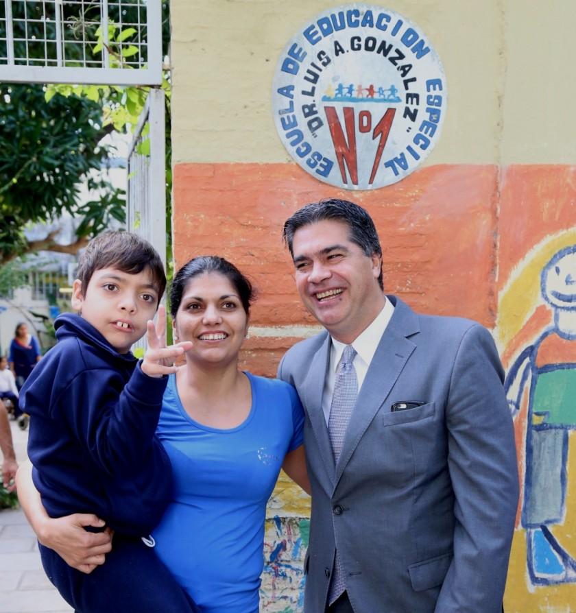 Capitanich ratificó su compromiso para la continuidad de la obra de la Escuela de Educación Especial Nº 1