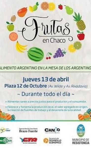 El camión de frutas y la feria de productores locales el jueves 13 en Resistencia