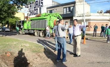 Ante un nuevo alerta meteorológico el municipio realiza  trabajos de desobstrucción de desagües y bocas de tormenta