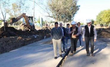 Capitanich encabezó recorrida de inspección de obras de pavimento en la ciudad