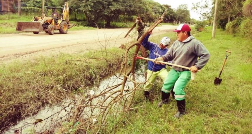 Emergencia Hídrica: el Municipio continúa con tareas de limpieza de zanjas y desagües pluviales