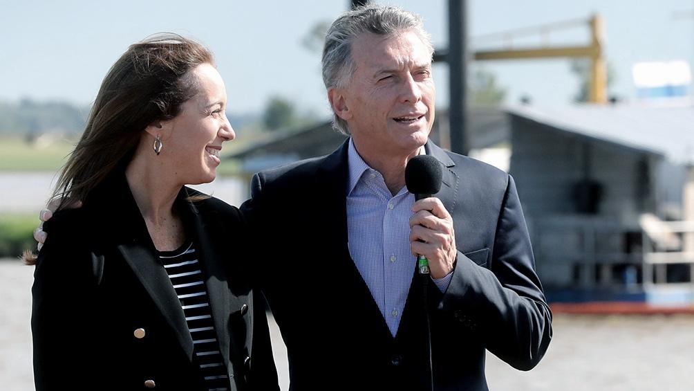 Macri inaugura con Vidal una planta potabilizadora de La Plata