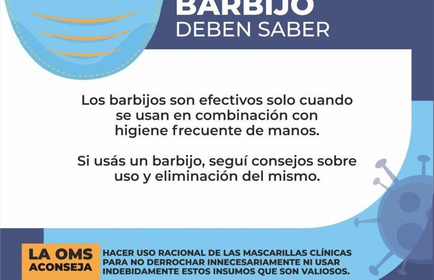 Coronavirus: Salud recomienda el uso correcto de barbijos y guantes