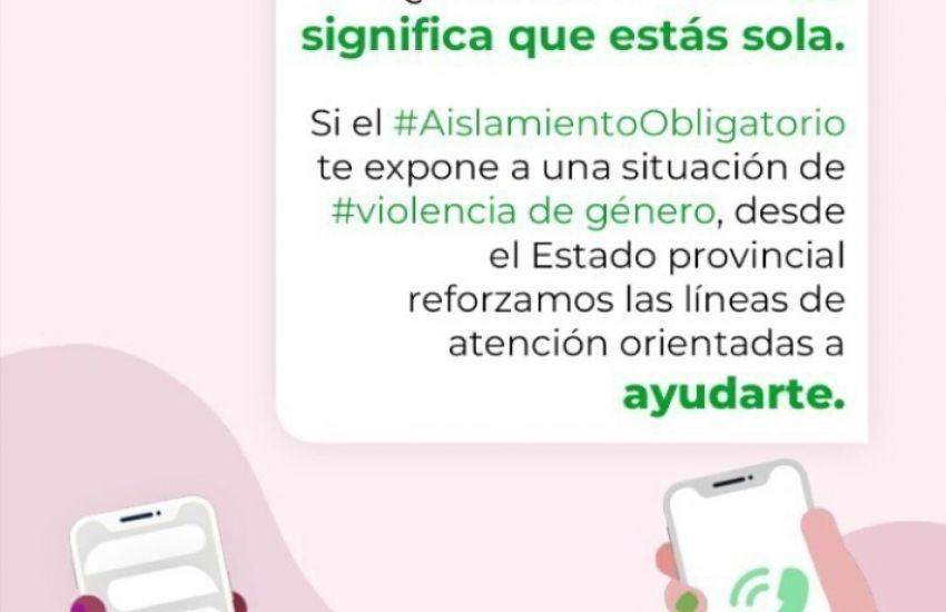 El Ejecutivo provincial fortalece las políticas contra la violencia de género durante el aislamiento