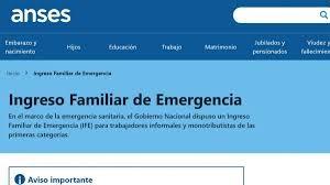 Este sábado se conocerán los beneficiarios del Ingreso Familiar de Emergencia