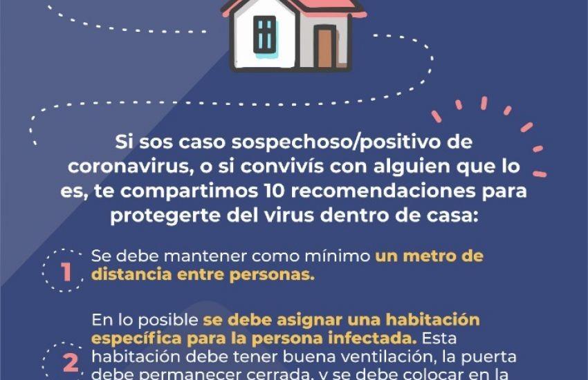 Salud compartió indicaciones para contactos de un paciente sospechoso o confirmado de coronavirus