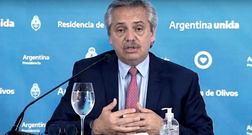 Alberto Fernández, sobre el aislamiento: