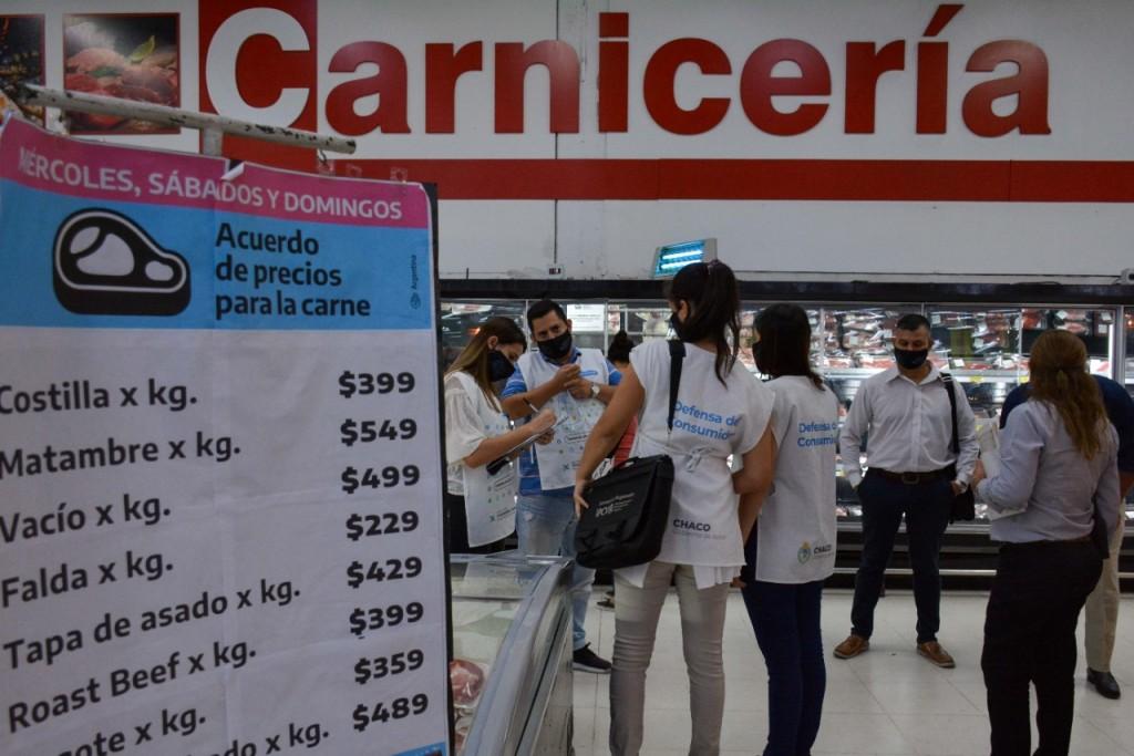 Cortes cárnicos a precios acordados: fiscalizan cumplimiento en los puntos de venta