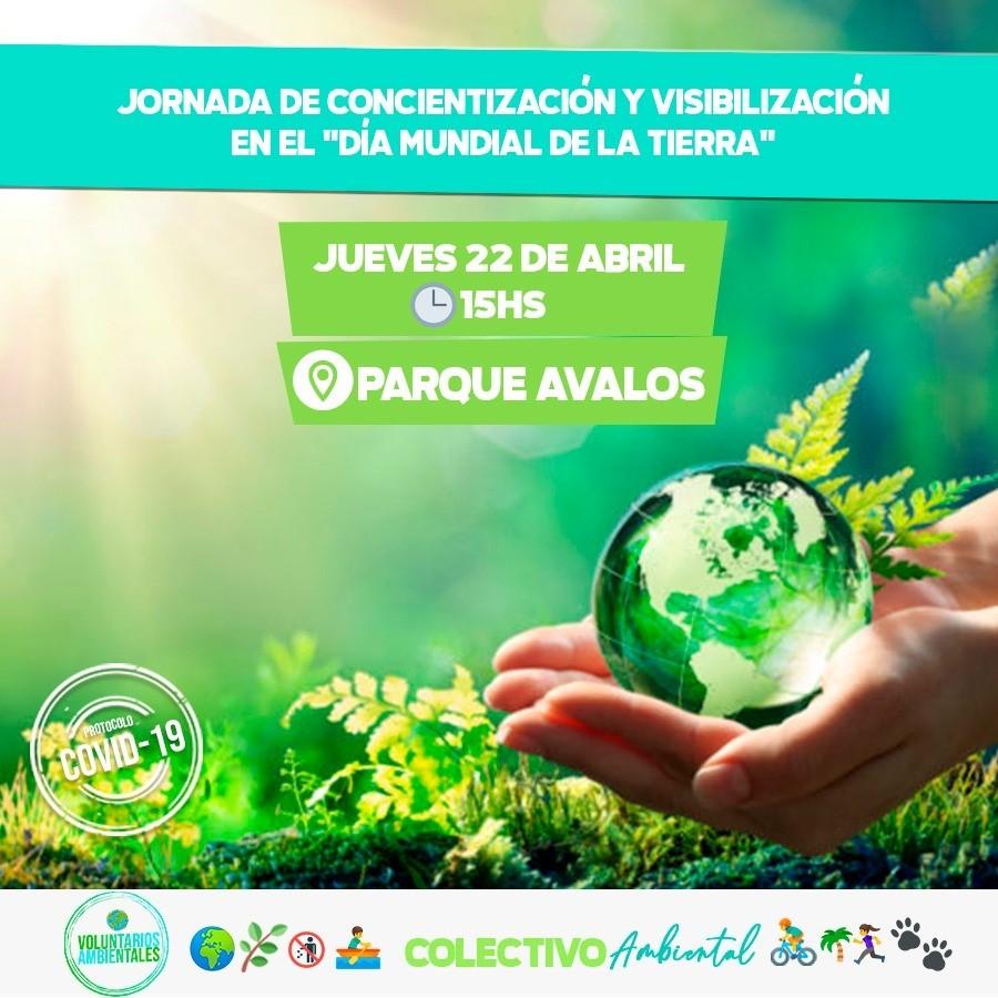 Día Mundial de la Tierra: Voluntarios Ambientales y el Colectivo Ambiental realizarán una jornada de concientización y visibilización