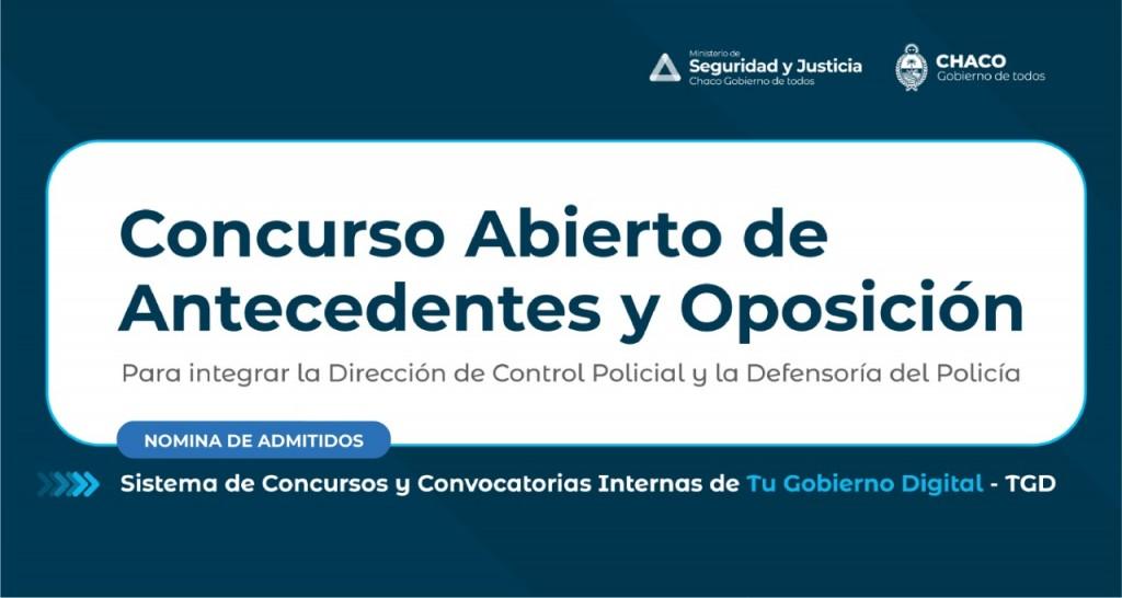 Seguridad y justicia publicó la lista de admitidos y no admitidos en los concursos para ocupar cargos en sus direcciones