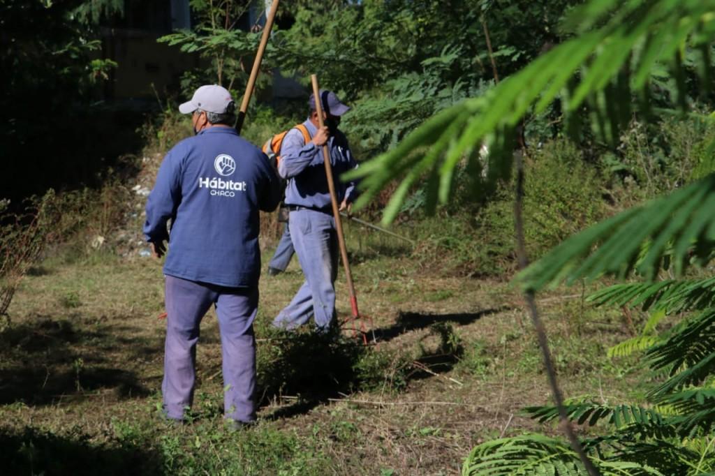 El equipo hábitat trabaja e interviene en espacios públicos de Resistencia