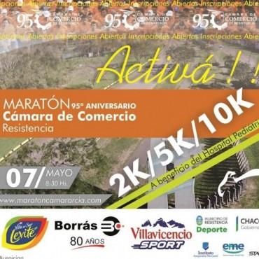 Maratón por los 95 años de la Cámara de Comercio el domingo 07 de mayo a las 08.30 hs.