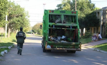 Pese al feriado por el 25 de Mayo, el servicio de recolección de residuos será normal