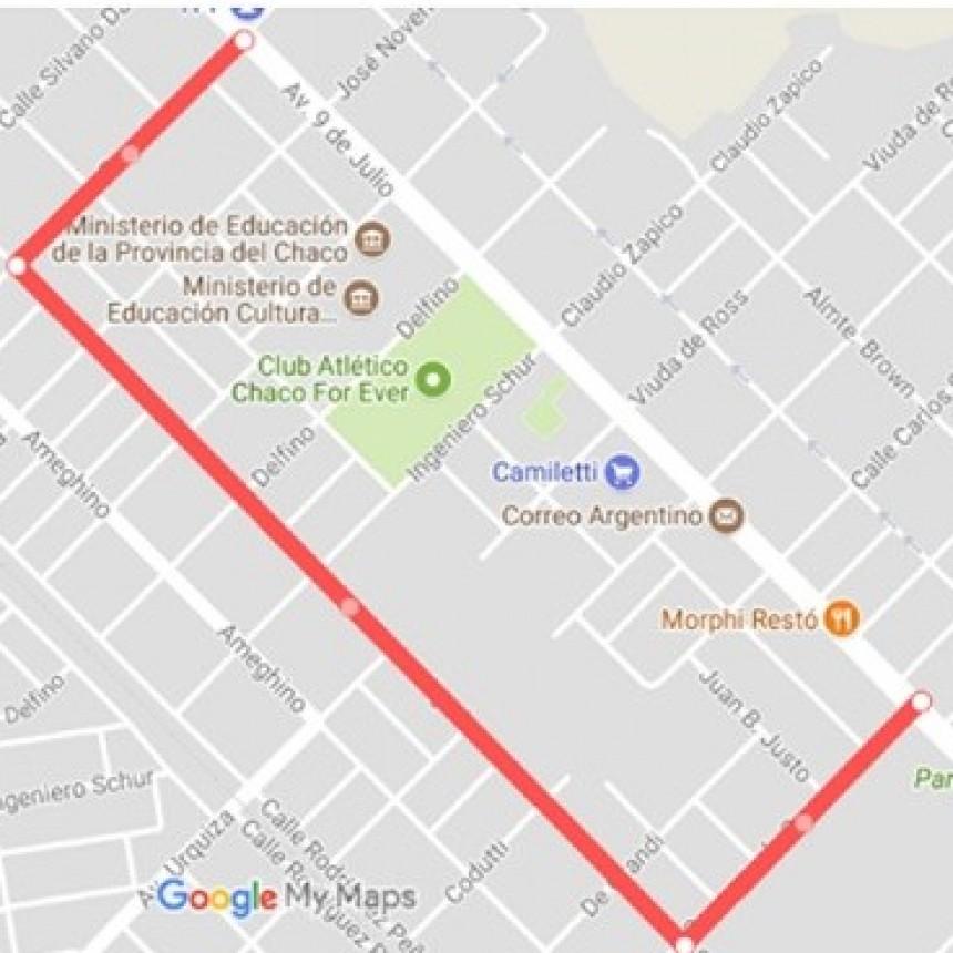 Por evento religioso se verá restringido el tránsito en avenida 9 de Julio durante la tarde del sábado