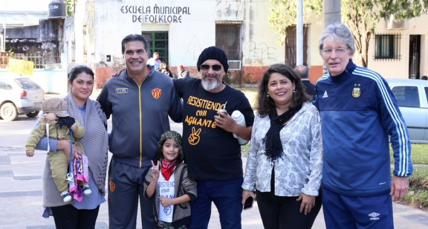 Capitanich peregrinó a Puerto Tirol para realizar el lanzamiento de la Maratón Solidaria Santa Rita 2019