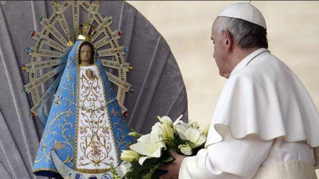 Francisco recordó a la Virgen de Luján en su día y pidió rezar por Argentina