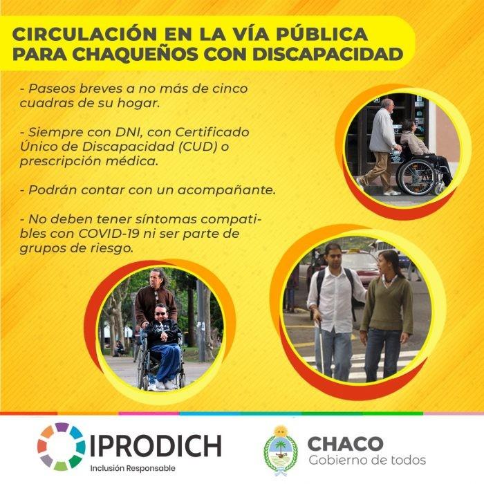 Aislamiento Obligatorio: Personas con discapacidad pueden realizar paseos breves con un acompañante
