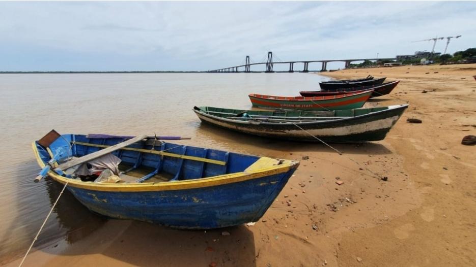 Corrientes: lento repunte del Paraná tras la apertura de la represa Itaipú