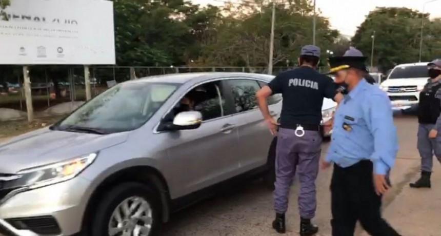 La Policía labró actas a quienes estuvieron en la marcha de comerciantes