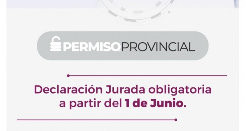 DESDE JUNIO SOLO SE PODRÁ CIRCULAR CON EL PERMISO OBLIGATORIO PROVINCIAL