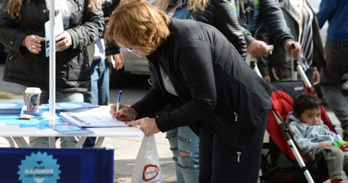 #BajemosLosPrecios alcanzó el millón de firmas