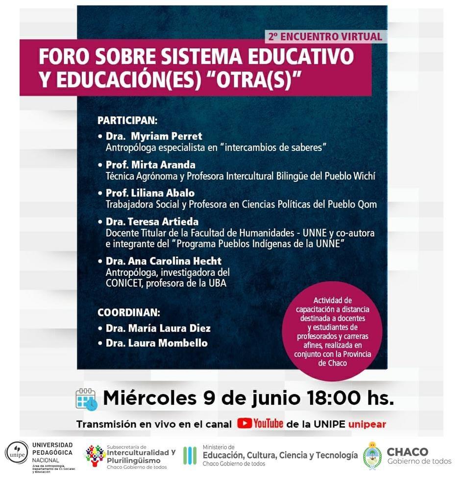 Educación invita a participar del foro sobre sistema educativo y educación(es) otra(s)