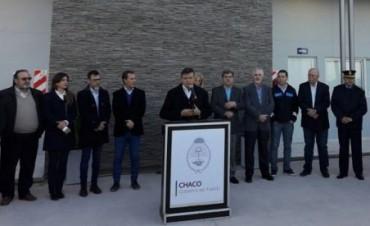 El gobernador Domingo Peppo habilito el portal de acceso a la provincia