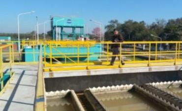 Autoridades de Sameep supervisaron la planta potabilizadora de presidencia roca