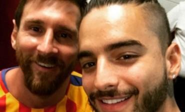 Maluma conoció a Messi y a Neymar