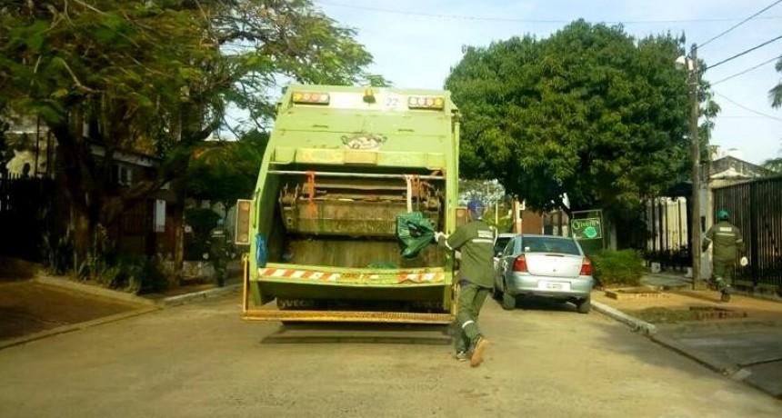 La recolección de residuos será normal el 8 y 9 de julio