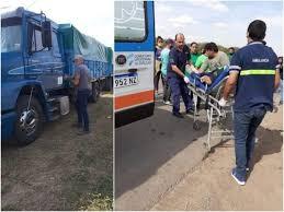 Un camionero embistió a dirigentes sociales en el acceso a Castelli; Mercedes Sánchez internada