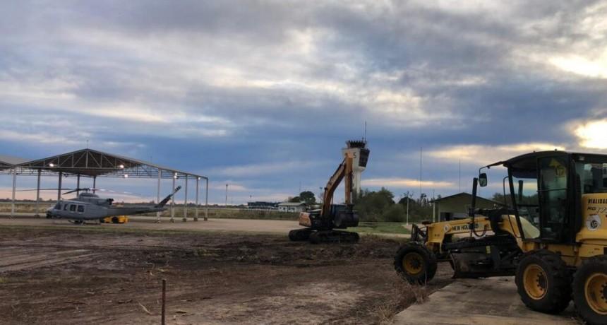 Vialidad Provincial construyó un helipuerto en Resistencia