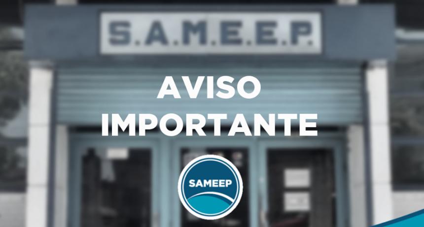 SAMEEP: mañana y pasado las oficinas de atención comercial estarán cerradas por el feriado del 9 de julio