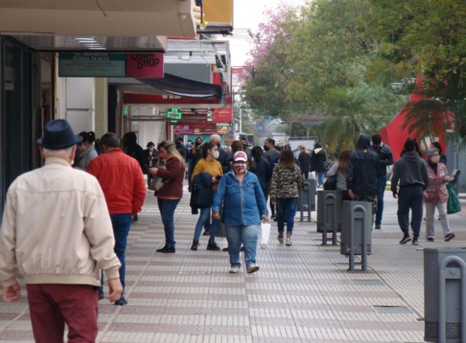 La peatonal volvió a ser el epicentro de circulación de personas en el arranque de semana
