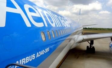 Aerolíneas suspendió su vuelo semanal a Caracas por