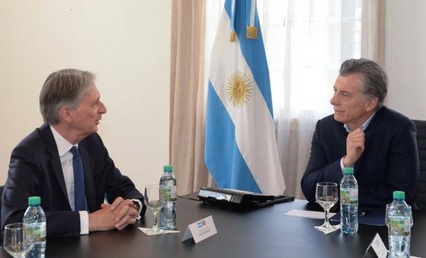El presidente Macri recibió al ministro de Hacienda del Reino Unido