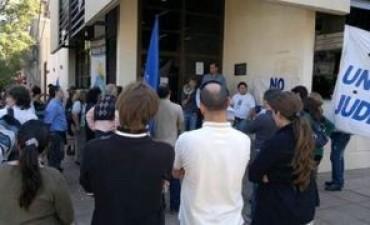 Judiciales manifestaron su malestar con el sindicato
