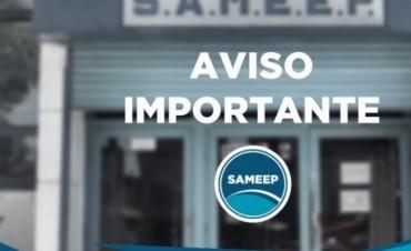SAMEEP INFORMA QUE REALIZARÁ TRABAJOS DE MANTENIMIENTO EN LA CISTERNA NORTE