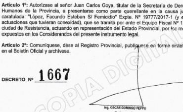El Estado se constituyó como querellante en el caso del femicidio de Mariela Fernández