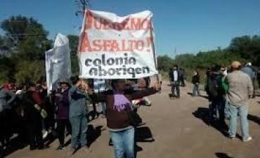 Habitantes de Colonia Aborigen logran continuidad de trabajos de infraestructura que estaban suspendidos.