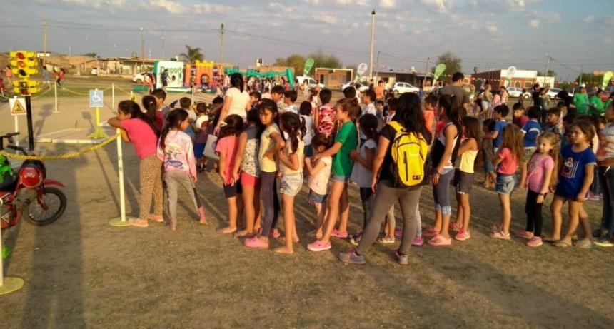 La Pista Infantil Itinerante de Tránsito  participa activamente en las actividades por el Mes del Niño