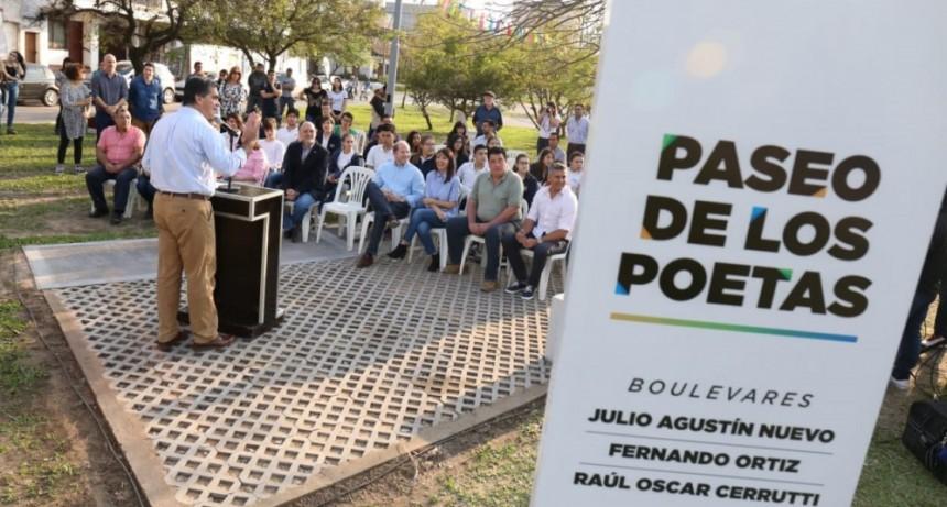 CAPITANICH INAUGURÓ EL PASEO DE LOS POETAS