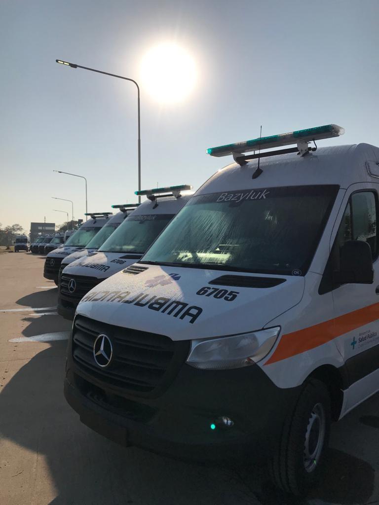 Salud refuerza su parque automotor: en lo que va de gestión pasó de 112 a 177 ambulancias