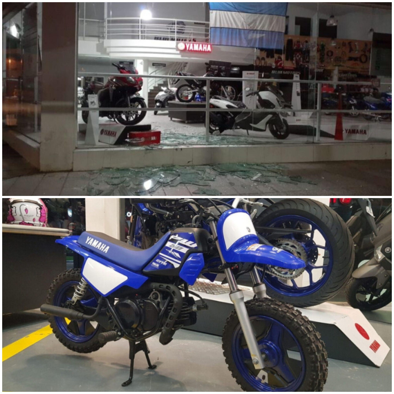 Delincuentes sin límites: robaron una moto de una concesionaria