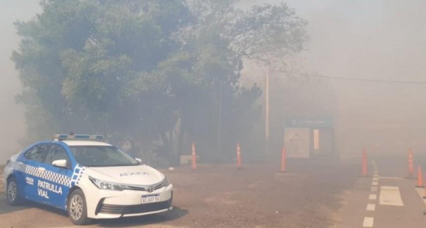 Puente Chaco-Corrientes: una gran quema de pastizales interrumpió el tránsito por horas