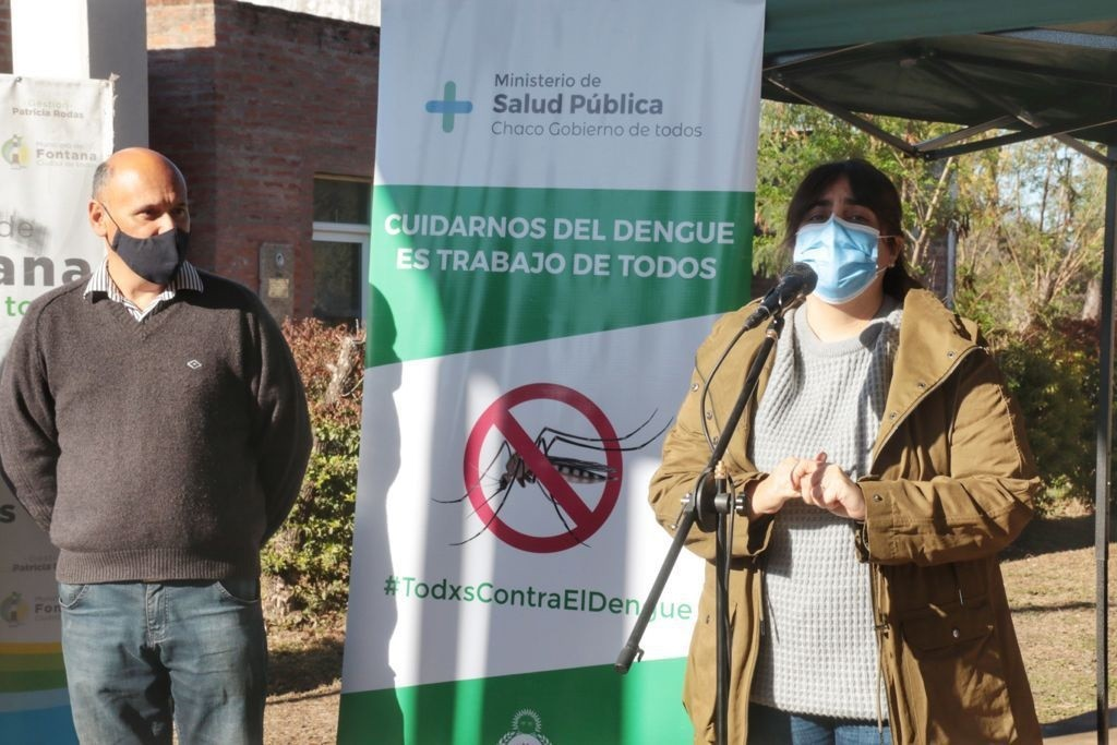 Salud pública realizó una jornada de prevención contra el dengue en Fontana