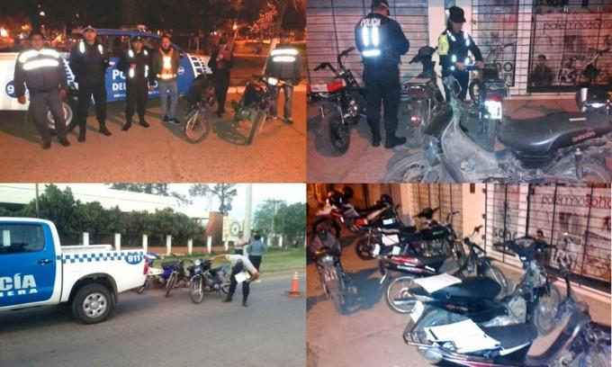 Caminera secuestra 36 motocicletas en operativos de control