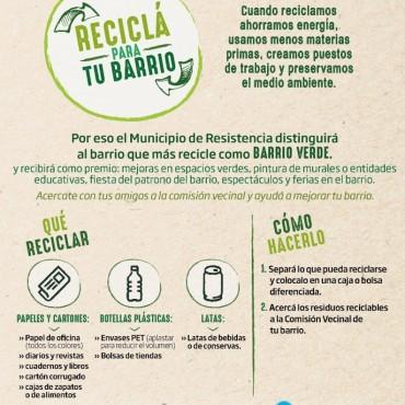 Reciclá para tu Barrio: el municipio alista el inicio del concurso