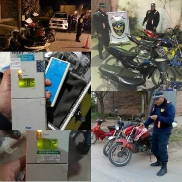 GRAN OPERATIVO DE MOTOS CON 50 SECUESTRADAS Y VARIAS ALCOHOLEMIAS POSITIVAS