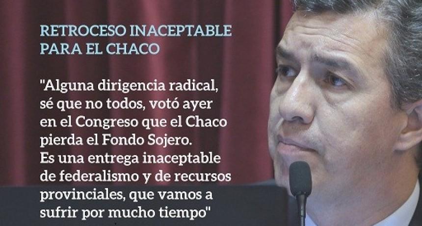 RETROCESO INACEPTABLE PARA EL CHACO